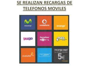 SE REALIZAN RECARGAS DE TELEFONOS MOVILES