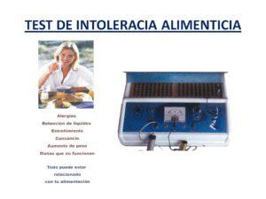 TEST DE INTOLERACIA ALIMENTICIA